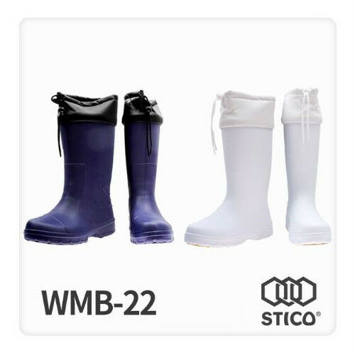 [STICO] Men's Non-Slip Rubber Boots Waterproof Cuff Working Boots Water Hygenic