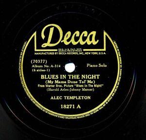 ALEC-TEMPLETON-1942-Decca-18271-Blues-in-the-Night-Grieg-Concerto-in-A-Minor