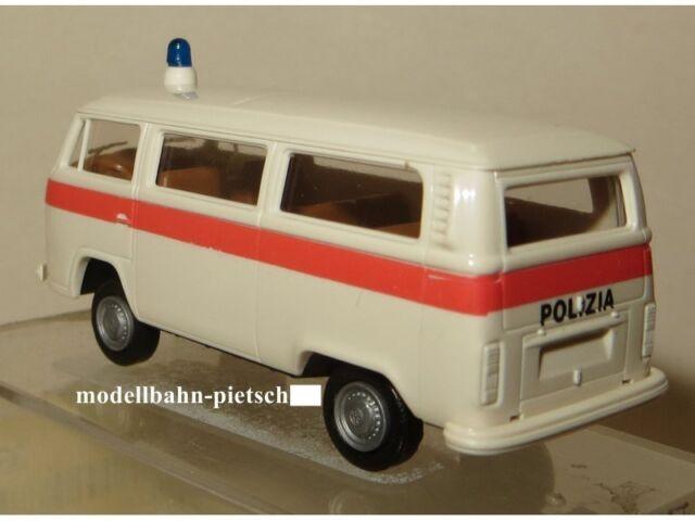 1//87 Brekina VW t2 polizia italia bus 3310 precio especial 5,99 € en lugar de 12 €