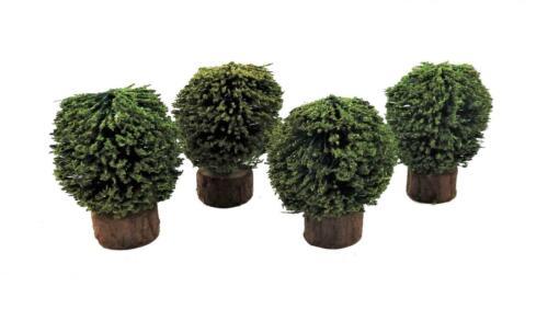 Casa De Muñecas Conjunto de 4 arbustos Arbustos Miniatura 1:12 Accesorio de jardín