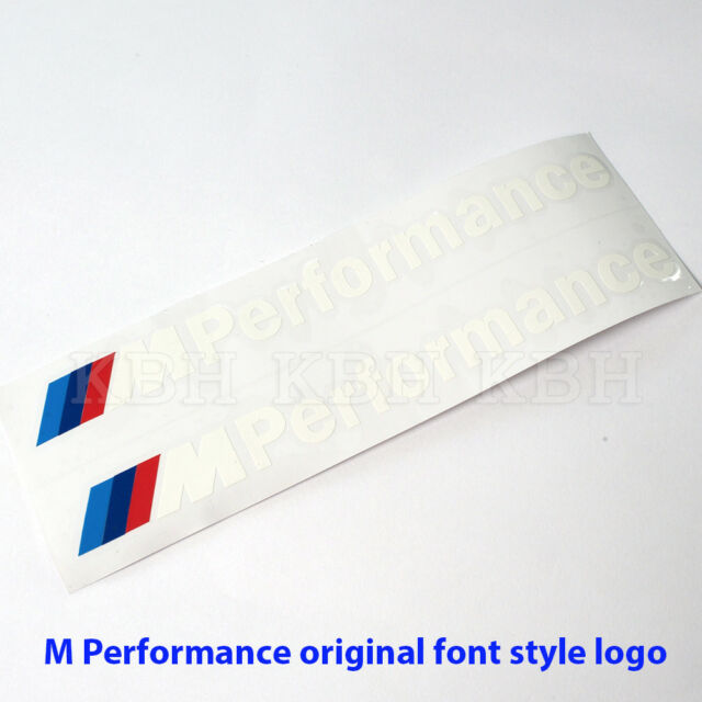 Fits BMW E60 E61 5 Series M Performance Side Skirt Decal Stickers GLOSS BLACK
