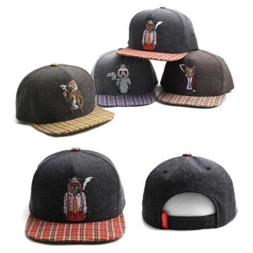 Unisex Mens Womens Smoking Animals Snapback Hip-hop Baseball Cap Trucker Hats