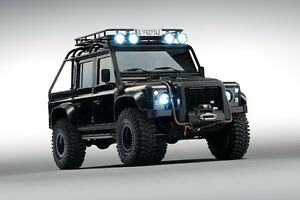 land rover defender 110 james bond spectre truck poster print 24x36