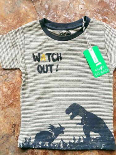 Shirt Neu 92 98 104 116 128 Dino Krokodil Knot so bad Jungen Knaben Tshirt T