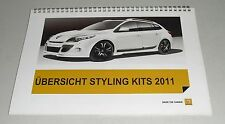 Teilekatalog Styling Kits Renault Twingo Clio Mégane Fluence Koleos Laguna Dacia