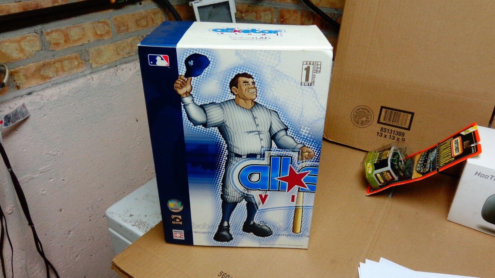 All Star Vinyl Babe Ruth MLB Figure [White Pinstripes Jersey] Brand New