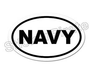 Oval-Car-Magnet-NAVY-Magnetic-Bumper-Sticker