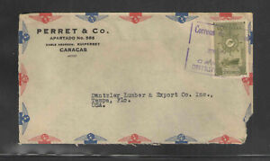1949-PARRET-amp-CO-CARACAS-VENEZUELA-ADVERTISING-COVER-Scott-C261