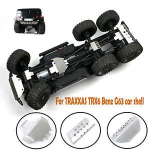 Juego-de-placas-proteccion-trasera-delantera-para-coche-TRAXXAS-TRX6-Benz-G63-RC