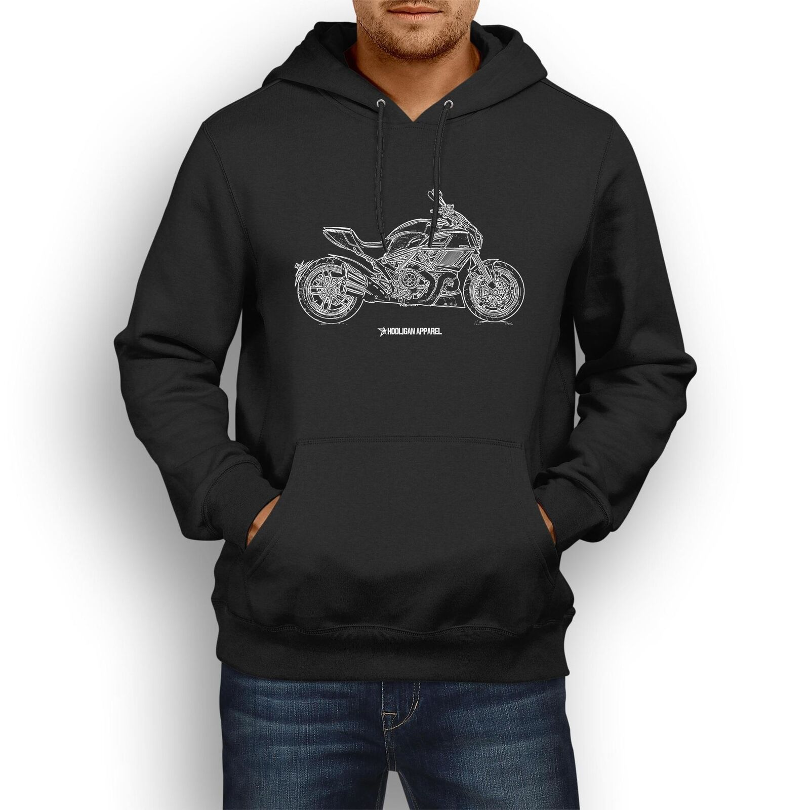 Ducati Diavel Carbon 2017 InspiROT Motorcycle Art Men's Hoodie