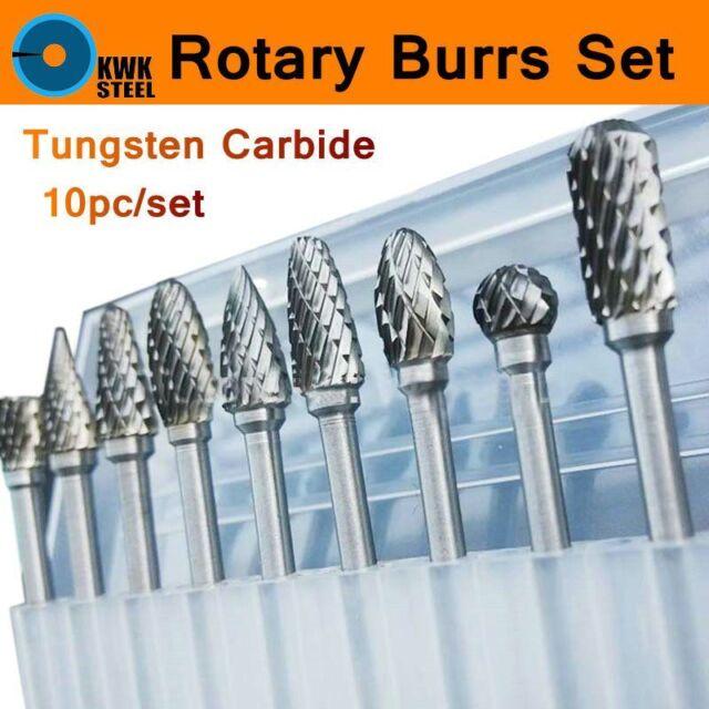 MEITA Rotary Grinder Burr Bits Tungsten Carbide Burr Radius End Single//Double Cut Rotary Burr File
