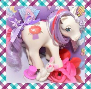 My-Little-Pony-MLP-G1-Vtg-Magic-Message-MAGIC-HAT-White-Purple-Earth
