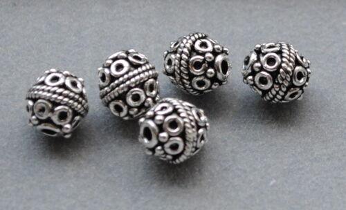 Altsilber À faire soi-même Vintage bijoux Argent 925 Entre Pièces boules Spacer Perles