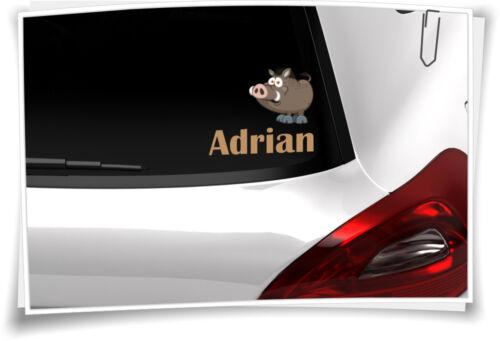 Autoaufkleber Sticker Kinder Aufkleber Kindername Baby Junge Mädchen Wildschwein