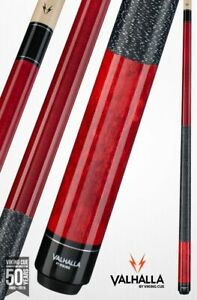 Valhalla-by-Viking-2-Piece-Pool-Cue-and-case-Red-with-wrap-Lifetime-Warranty