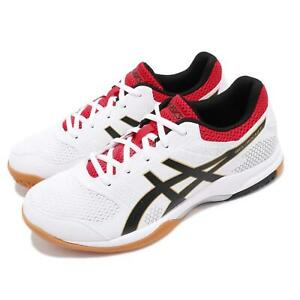 Dettagli su Asics Gel Rocket 8 White Black Red Gum Men Volleyball Badminton Shoes B706Y125