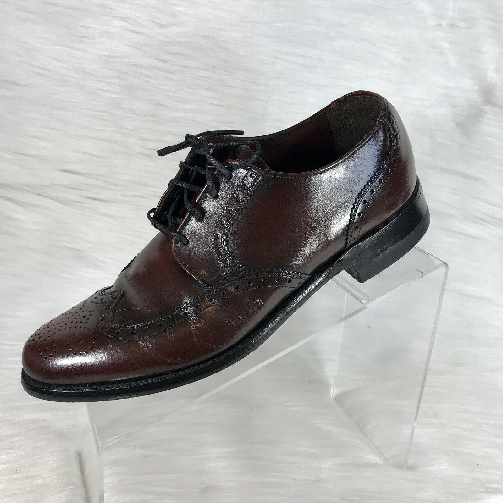 Vintage Weyenberg Massagic Mens Brown Leather Oxfords Size 8 D