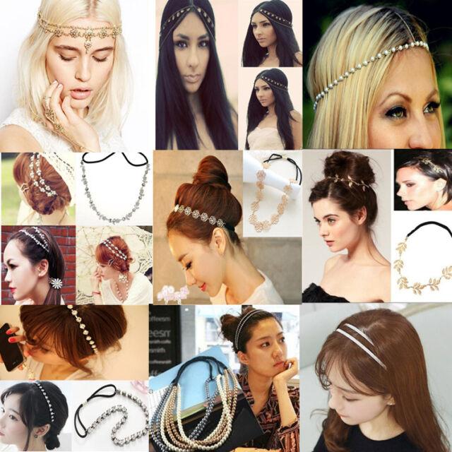 Fashion Womens Head Chain Headband Head Piece Girls Hair band Party Jewelry Gift