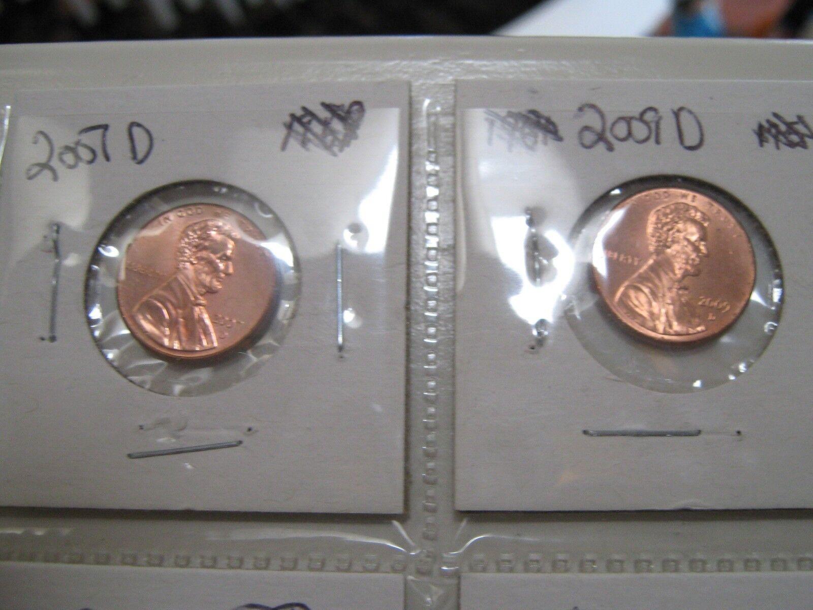 Lincoln Penny , Lot of 6 , 2007-D , 2009-D , 2011-D