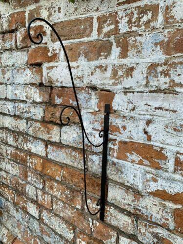 2 Panier Suspendu JARDINIERE Shabby Chic Jardin Pot de fleur en métal en bois mural