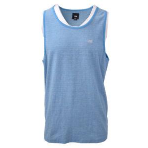 Vans-Off-The-Wall-Men-039-s-Aqua-Blue-Striped-Sleeveless-Tank-Top-S02-Retail-30