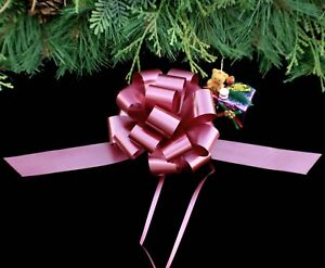 image is loading 20 burgundy 5 5 034 pull bows gift - Christmas Decorations Bows