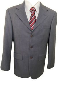 Nautica Mens 3 Button Suit Jacket Blazer Sport Coat Brown Modern Fit Wool 38S