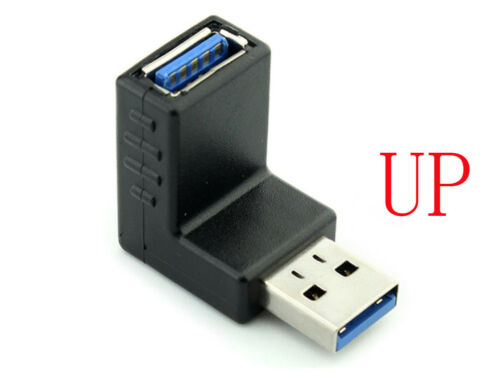 90 Degree USB 3.0 A male to A female Adapter Connector Angle Extension Extender