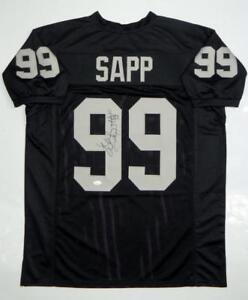 Warren-Sapp-Autographed-Black-Pro-Style-Jersey-HOF-JSA-Witness-Auth-Vert-HOF