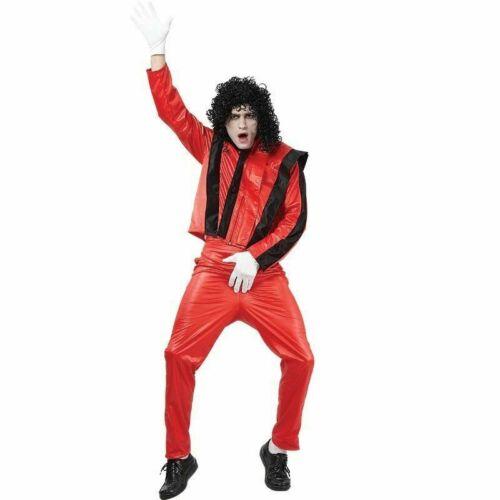 Adults Celebrity Costume Elvis Kiss Bowie MJ Fancy Dress Outfit Mens New