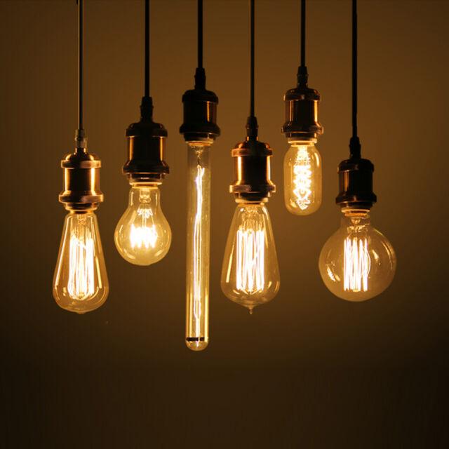 E27 Antique Edison Bulb Incandescent Light Vintage Retro Industrial Style Lamp