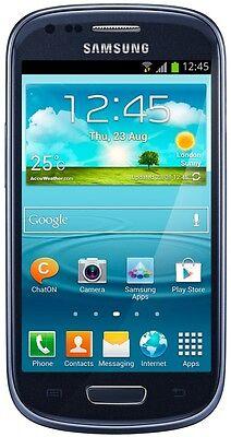Samsung Galaxy S3 III Mini SM-G730A 8GB Pebble Blue AT&T Smartphone