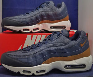 abba36350b7a Nike Air Max 95 Premium Wool Thunder Blue Ale Brown SZ 9.5 ( 538416 ...