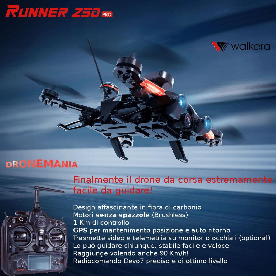 Walkera RUNNER 250 PRO devo7 GPS video in diretta ritorno a casa FACILE GUIDA