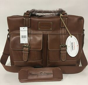 Image Is Loading New Tommy Bahama Back 9 Genuine Leather Messenger