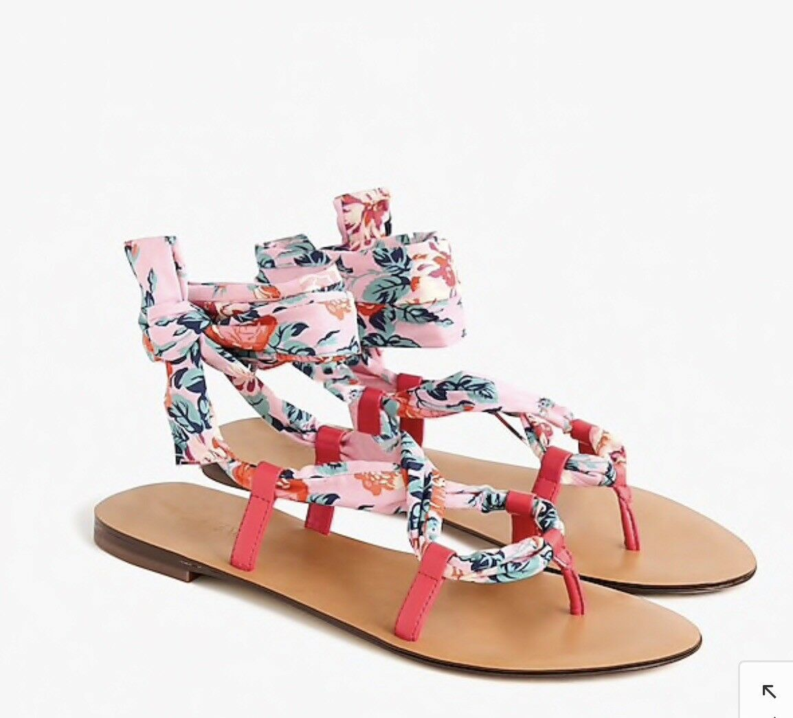 J.Crew Wrap-around sandals in Liberty® floral  98, size 8.5, NEW, sold out