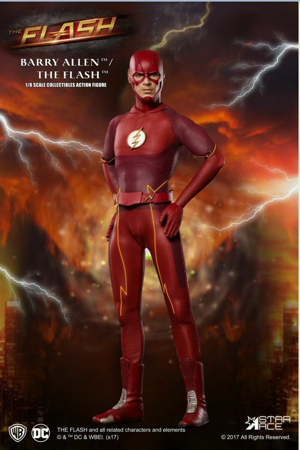 STAR ACE TOYS 1 8 SCALE  BARRY ALLEN AS THE FLASH SUPER HERO COLLECTORS FIGURE