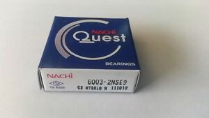 6003-2NSE NACHI Ball Bearings 6003-2RS Made in Japan 17x35x10 mm