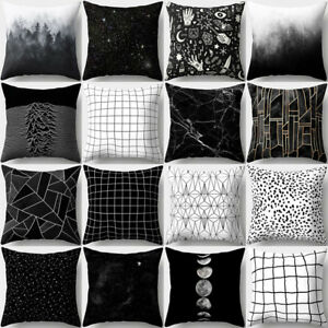 Image Is Loading Am Geometric Black Amp White Throw Pillow Case