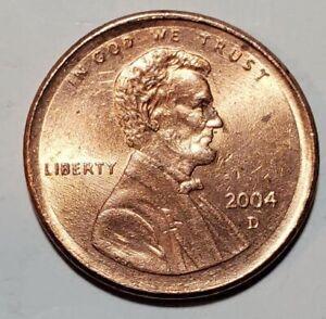 2004 D - RARE - OFF CENTER BROADSTRUCK - LINCOLN MEMORIAL CENT MINT ERROR #10083
