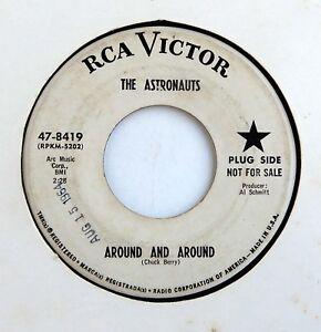THE-ASTRONAUTS-45-Around-And-Around-Ride-WIld-Surf-RCA-Rec-039-64-DJ-PROMO-Hear
