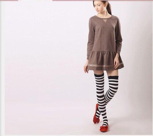 Ladies Girl Stripe Stripey Striped Over The Knee Thigh High Long Socks DP