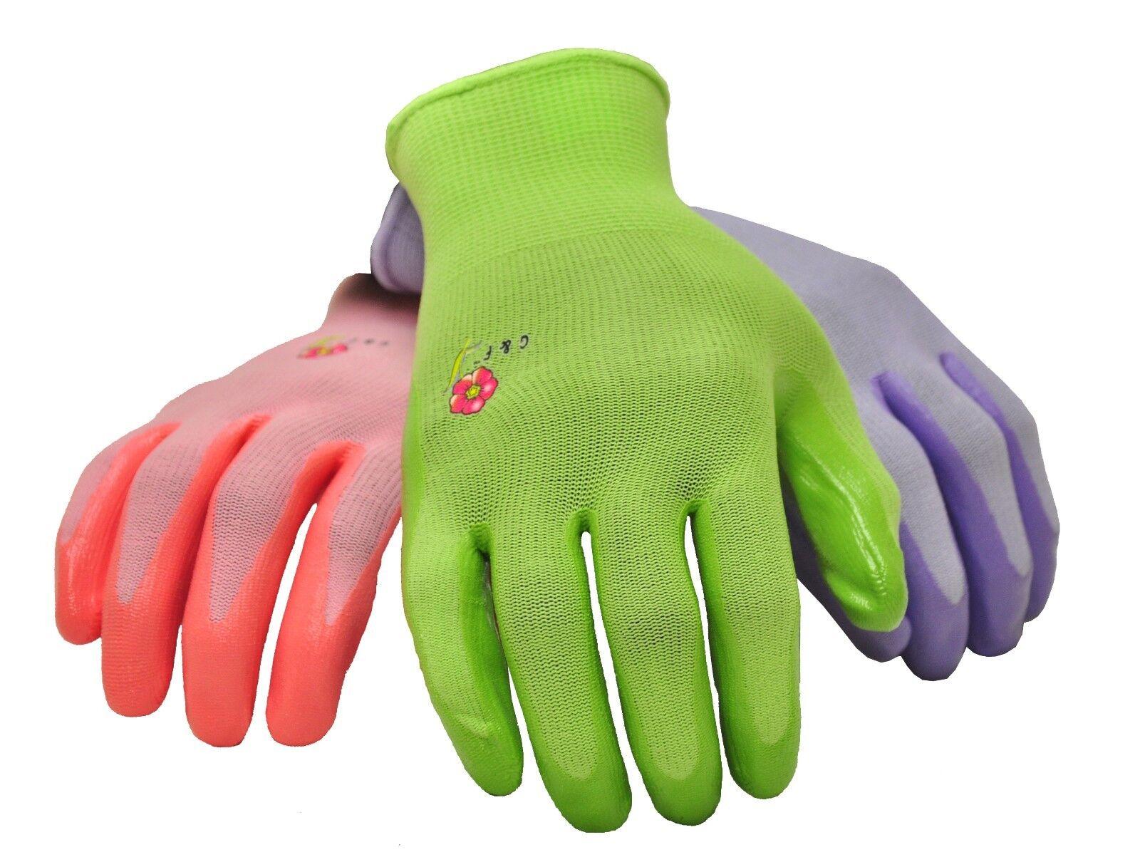 G & F 15226 Women's Garden Gloves, 6 Pair Pack, assorted colors 11