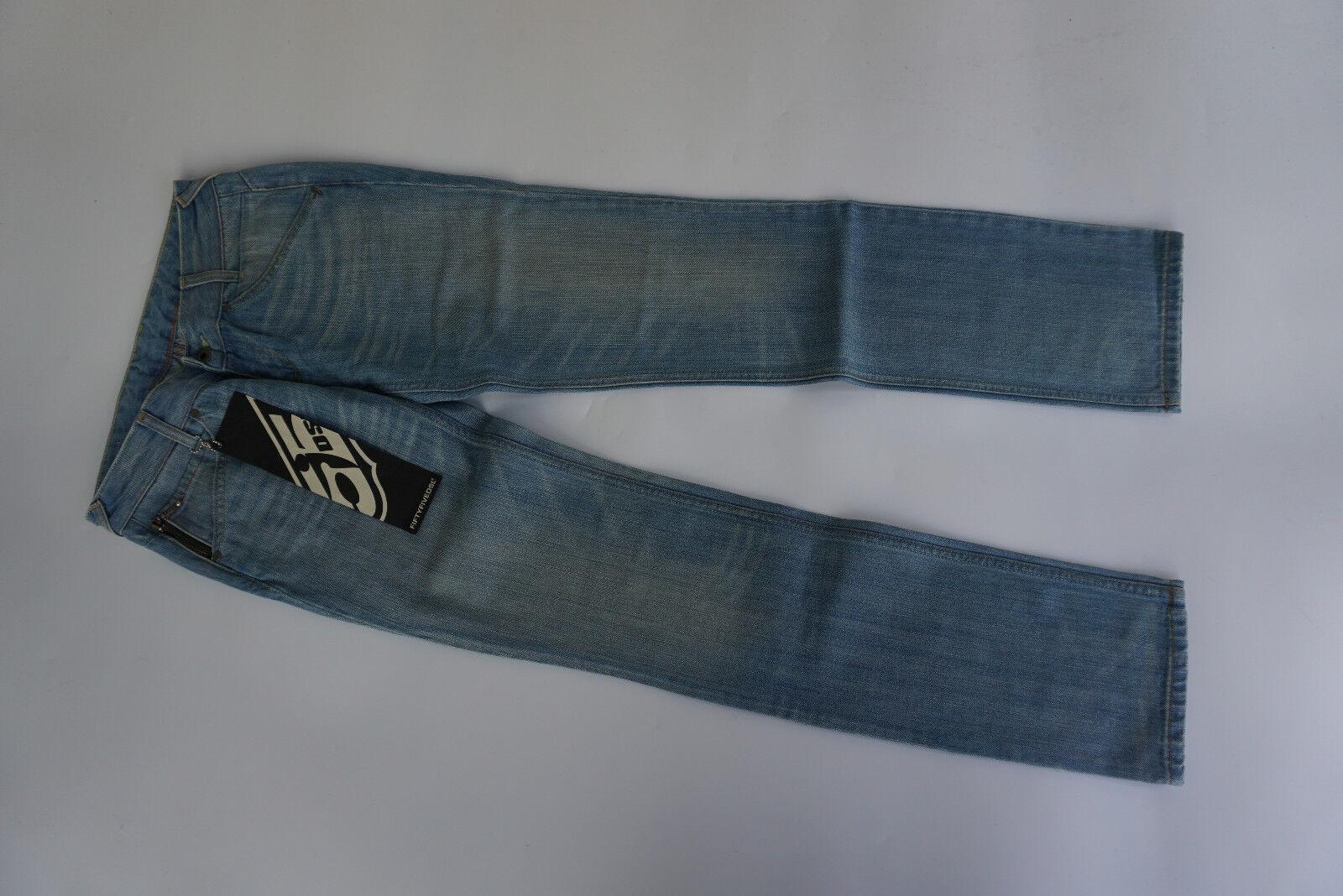 55 DSL DIESEL Damen damen Straight Leg Jeans Hose 27 32 W27 L32 hellblau NEU=