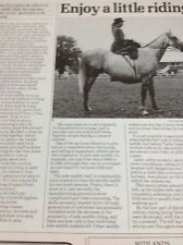 Ephemera 1982 Article Ladies Side Saddle Riding Mr1015