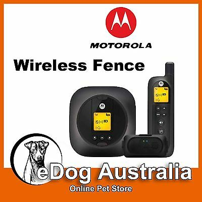 Motorola Wireless Fence Fencing System Remote Training Collar for Home & Travel