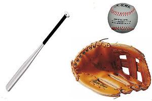 kit-batte-alu-28-pouces-Gant-baseball-12-039-Gants-Gauche-pour-droitier-balle
