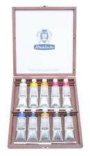 Schmincke Mussini® Holzkasten Künstler Ölfarbe 10 x 35 ml Tuben Neu Malkasten