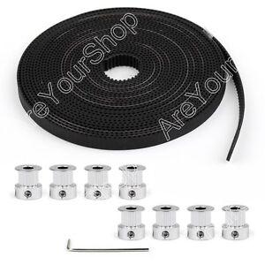 8pcs-GT2-Pulley-16Teeth-Bore-5mm-5m-GT2-Timing-Belt-For-3D-Printer-Part-RepRap