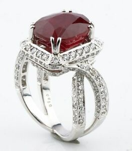 Ruby-and-Diamond-18k-White-Gold-Cocktail-Ring-Size-6-75-AIG-Certificate